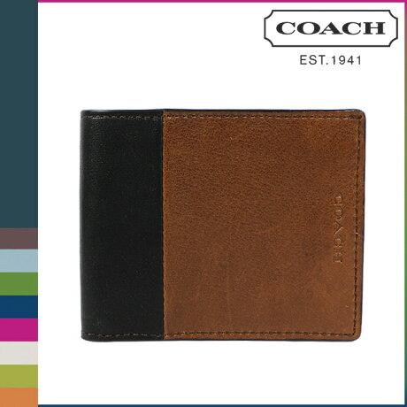 コーチ COACH 財布 二つ折り メンズ F74819 フォーン ブラック