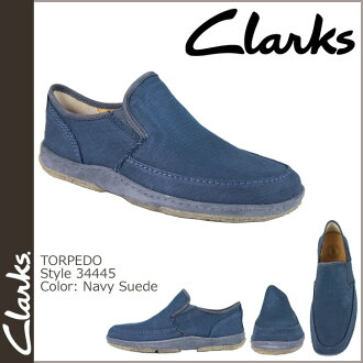 Clarks originals-Clarks ORIGINALS comfort shoes [Navy] 34445 TORPEDO canvas mens