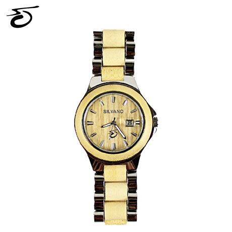 シルヴァーノアパレル Silvano Apparel 腕時計 ナチュラルウッド メンズ