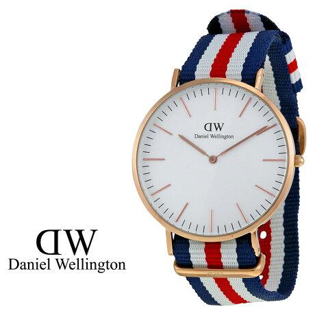 ダニエルウェリントン Daniel Wellington 40mm 腕時計 メンズ CLASSIC CANTERBURY ローズゴールド