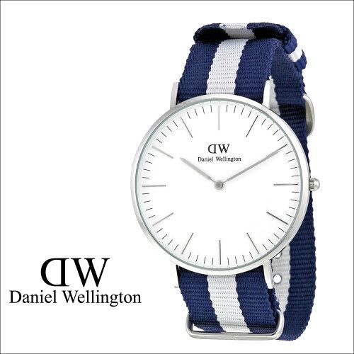 ダニエルウェリントン Daniel Wellington 40mm 腕時計 メンズ CLASSIC GLASGOW シルバー NATO [S20...