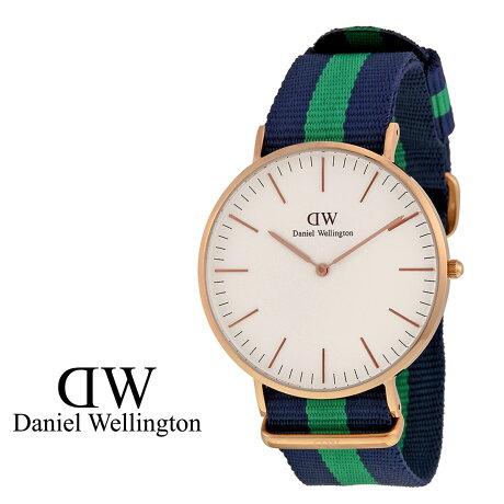 ダニエルウェリントン Daniel Wellington 40mm 腕時計 メンズ CLASSIC WARWICK ローズゴールド NATO