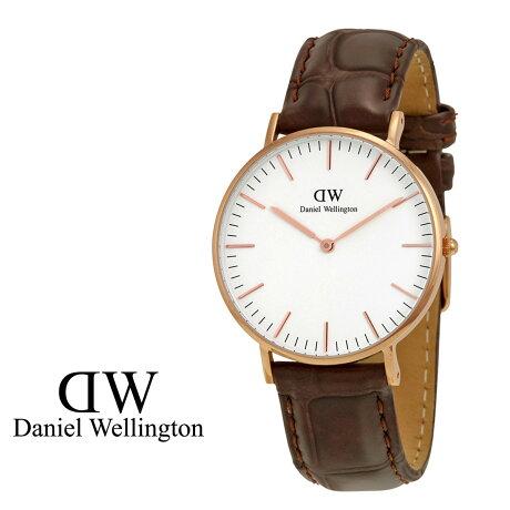 ダニエルウェリントン Daniel Wellington 40mm 腕時計 メンズ CLASSIC YORK ローズゴールド クロコ