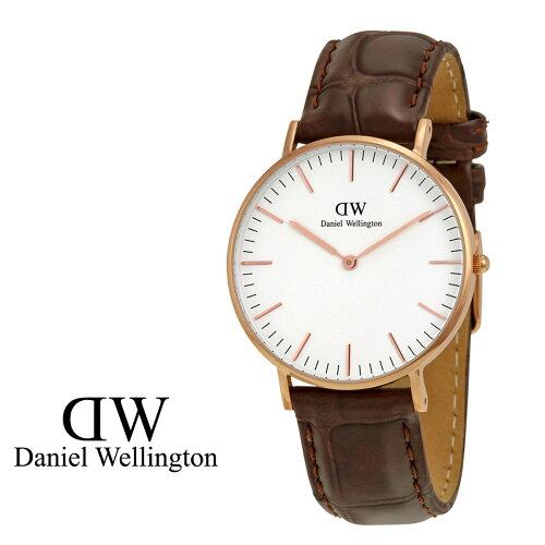ダニエルウェリントン Daniel Wellington 40mm 腕時計 メンズ CLASSIC YORK ローズゴールド クロコ...