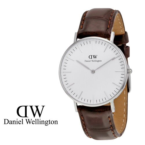 ダニエルウェリントン Daniel Wellington 40mm 腕時計 メンズ CLASSIC YORK シルバー クロコ [S20]...