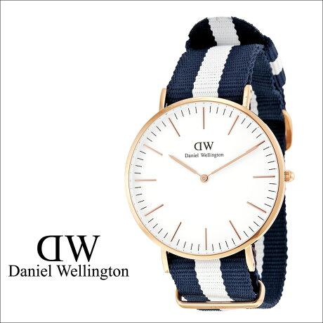 ダニエルウェリントン Daniel Wellington 40mm 腕時計 メンズ CLASSIC GLASGOW ローズゴールド NATO