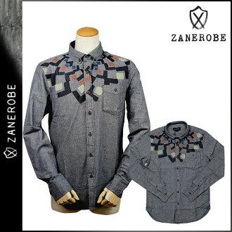 SHIRT men's brand ゼンローブ ZANEROBE button-down shirt [Navy] [regular]