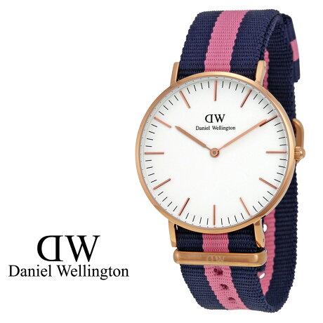 ダニエルウェリントン Daniel Wellington 36mm 腕時計 レディース CLASSIC WINCHESTER LADY ローズゴールド NATO