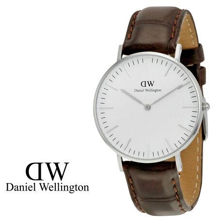 ダニエルウェリントン Daniel Wellington 36mm 腕時計 レディース CLASSIC YORK LADY シルバー