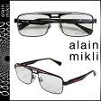 アランミクリ alain mikli メガネ 眼鏡 メタルフレーム AL1223-MOBE ブラック レッド メンズ レディース [S50]