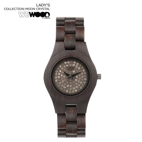 WEWOOD 腕時計 レディース ウィーウッド MOON CRYSTAL チョコレート CHOCOLATE NATURAL WOOD ムーン クリスタル ウォッチ 時計
