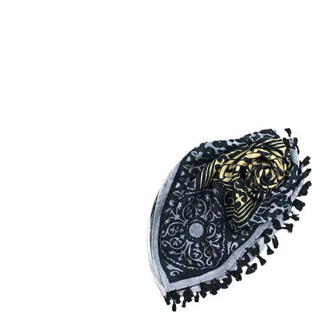 キッシュ KISH ストール スカーフ ウール ブラック STOLE SCARF レディース 【ネコポス可】【CLEARANCE】【返品不可】