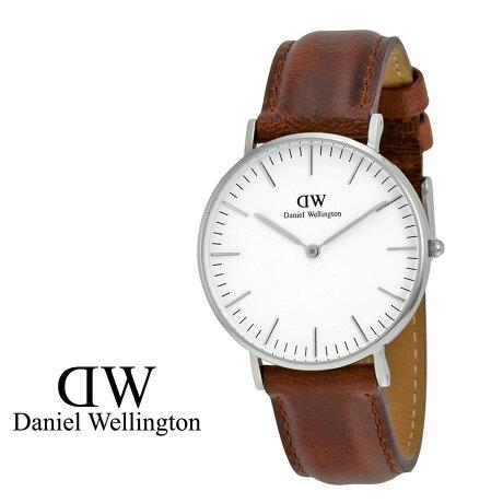 ダニエルウェリントン Daniel Wellington 40mm 腕時計 メンズ CLASSIC ST MAWES シルバー レザー