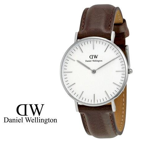 ダニエルウェリントン Daniel Wellington 36mm 腕時計 レディース CLASSIC BRISTOL シルバー レザー