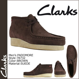 Clarks CLARKS Padmore boot Wallaby 78732 PADMORE suede mens WALLABEE BROWN suede