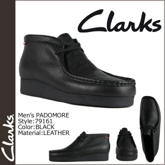Clarks CLARKS Padmore boot Wallaby 79161 PADMORE leather mens BLACK WALLABEE