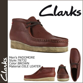 Clarks CLARKS Padmore boot Wallaby 86256 PADMORE oil leather mens BROWN WALLABEE
