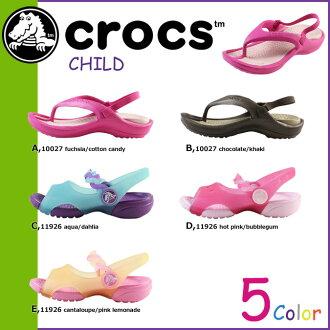 點 10 x Crocs crocs 涼鞋 5 種國外真正交叉光戶外運動泵騾子孩子孩子