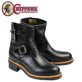 Point 2 x Chippewa CHIPPEWA 7-inch plain to engineer boots 1901M51 7INCH PLAIN TOE ENGINEER E wise leather mens 02P13Dec13_m