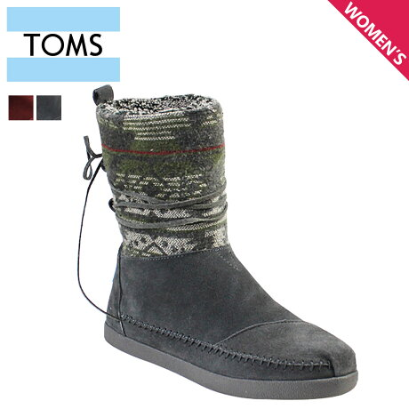 TOMS レディース トムス シューズ ブーツ TOMS SHOES トムズ SUEDE JACQUARD WOMEN'S NEPAL BOOTS トムズシューズ