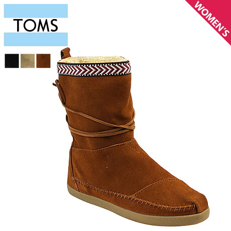 TOMS レディース トムス シューズ ブーツ TOMS SHOES トムズ SUEDE TRIM WOMEN'S NEPAL BOOTS トムズシューズ 【CLEARANCE】【返品不可】