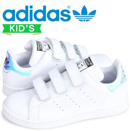 アディダス オリジナルス スタンスミス adidas Originals キッズ スニーカー STAN SMITH CF C AQ6273 ホワイト [7/7 新入荷]