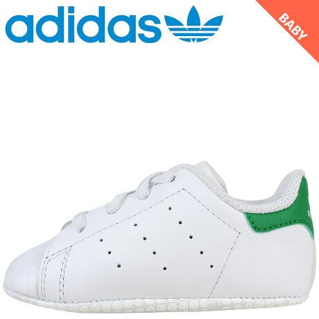 アディダス オリジナルス スタンスミス キッズ ベビー adidas Originals スニーカー STAN SMITH CRIB B24101 ホワイト [8/14 追加入荷]