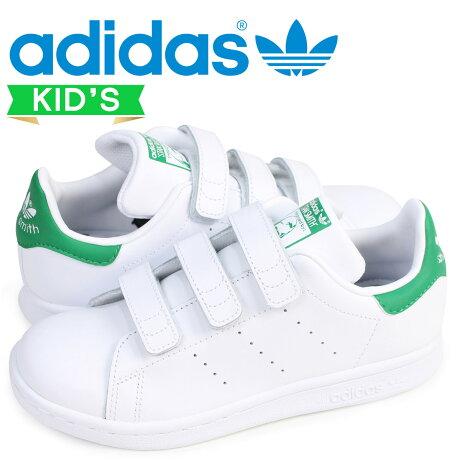 アディダス オリジナルス adidas Originals スタンスミス ベルクロ スニーカー キッズ STAN SMITH CF C ホワイト 白 M20607 [8/21 追加入荷]