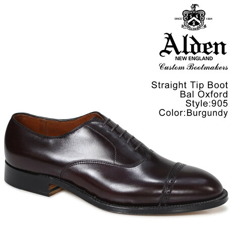 ALDEN オールデン オックスフォード シューズ メンズ STRAIGHT TIP BAL OXFORD Dワイズ 905