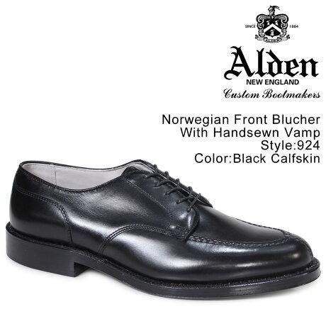 ALDEN オールデン シューズ メンズ NORWEGIAN FRONT BLUCHER WITH HANDSEWN VAMP Dワイズ 924