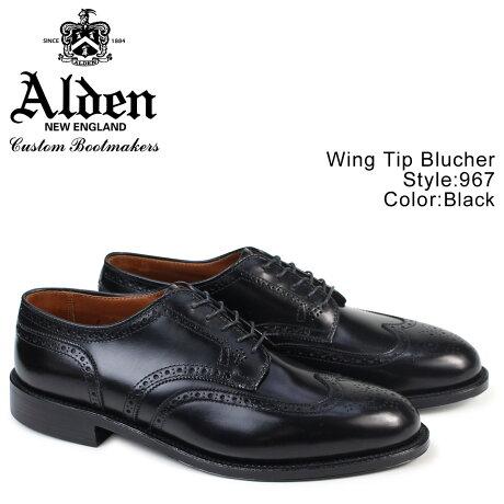 ALDEN オールデン ウィングチップ シューズ メンズ WING TIP BLUCHER Dワイズ 967 [9/25 追加入荷]