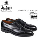 ALDEN オールデン シューズ メンズ STRAIGHT TIP BLUCHER Dワイズ 971 [10/11 追加入荷]