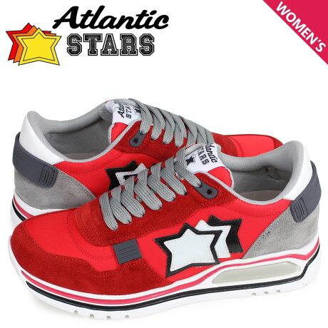 アトランティックスターズ Atlantic STARS シャカ スニーカー レディース SHAKA レッド CF-J04 [予約商品 3/29頃入荷予定 新入荷]
