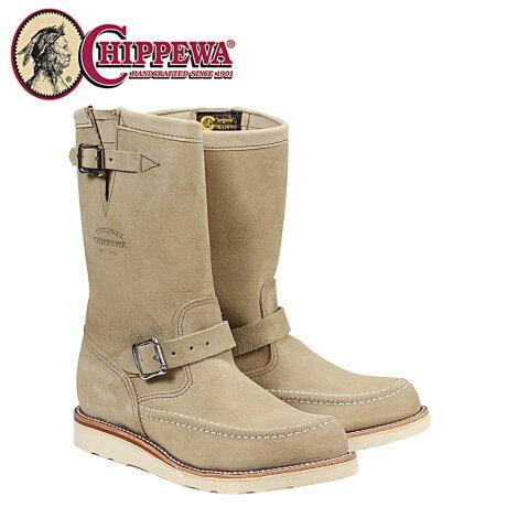 チペワ CHIPPEWA ブーツ 11インチ スエード ハイランダー サンド 1901M02 11INCH SUEDE HIGHLANDER Eワイズ スエード BOOT メンズ