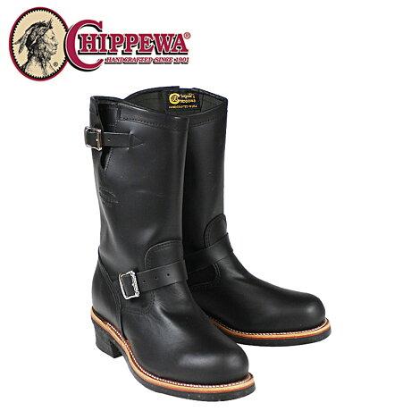 チペワ CHIPPEWA エンジニア ブーツ 11インチ 11 INCH STEEL TOE ENGINEER スティールトゥ エンジニア ブーツ 1901M03 Eワイズ ブラック メンズ