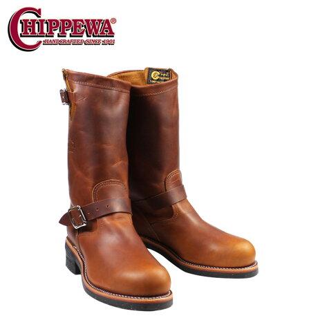 チペワ CHIPPEWA エンジニア ブーツ 11インチ スティールトゥ 11 INCH STEEL TOE ENGINEER Eワイズ レザー 1901M05 タン メンズ
