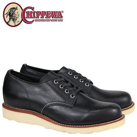 チペワ CHIPPEWA オックスフォード 4インチ ホワールウィンド プレーン トゥ 4INCH WHIRLWIND PLAIN TOE OXFORD Dワイズ レザー 1901M43 ブラック BOOT メンズ