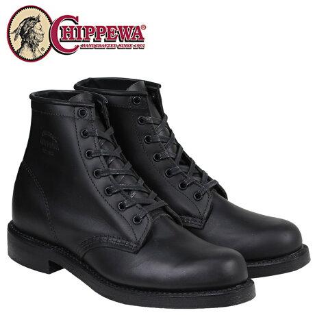 チペワ CHIPPEWA ブーツ 6インチ 6INCH TROOPER SERVICE BOOT トルーパー サービス ブーツ 1901M82 Dワイズ ブラック メンズ