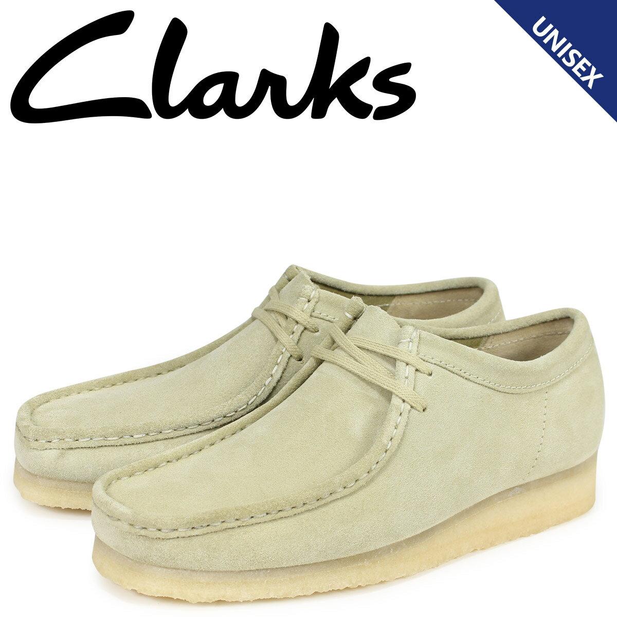 クラークス Clarks ワラビー ブーツ メンズ レディース WALLABEE メープルスエード ベージュ 26133278 [10月 再入荷]