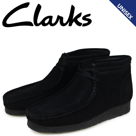 クラークス Clarks ワラビー ブーツ メンズ レディース WALLABEE スエード ブラック 26133281 [予約商品 2/22頃入荷予定 新入荷]