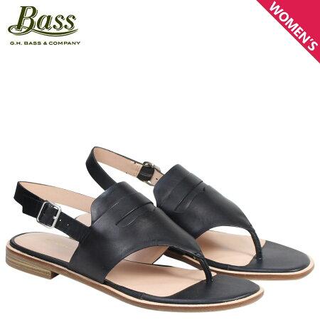 G.H. BASS サンダル レディース ジーエイチバス フラット SCARLETT SLIDE SANDAL 71-21464 靴 ブラック [6/22 新入