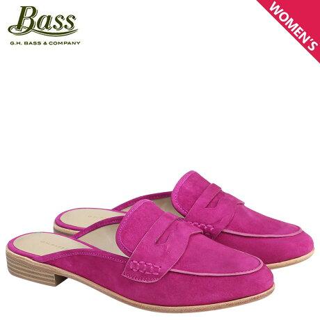 G.H. BASS ローファー ジーエイチバス レディース サンダル スリッパ バブーシュ ERIN MULE 71-21388 靴 ピンク