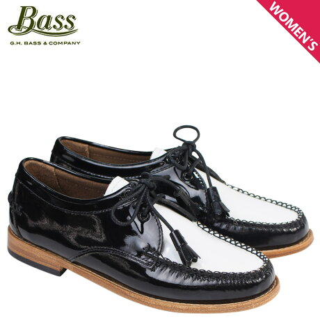 G.H. BASS ローファー ジーエイチバス レディース タッセル WINNIE TIE WEEJUNS 71-22465 靴 ブラック ホワイト