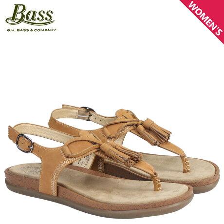 G.H. BASS サンダル レディース ジーエイチバス トングサンダル タッセル Tストラップ SADIE T-STRAP SUNJUNS 71-23002 靴 ブラウン