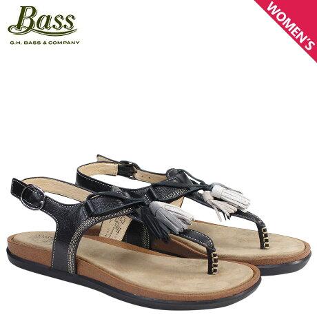 G.H. BASS サンダル レディース ジーエイチバス トングサンダル タッセル Tストラップ SADIE T-STRAP SUNJUNS 71-23004 靴 ブラック