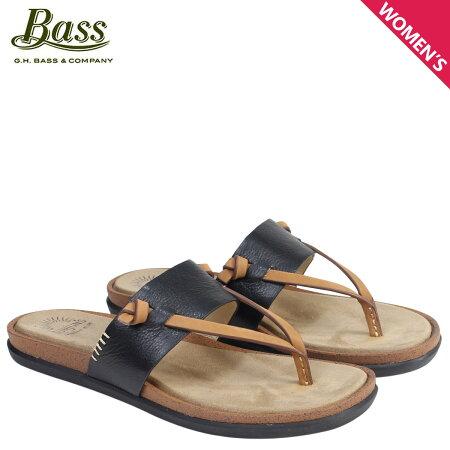 G.H. BASS サンダル レディース ジーエイチバス トングサンダル SHANNON THONG SUNJUNS 71-23014 靴 ブラック [6/22 新入荷]
