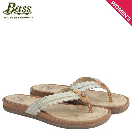G.H. BASS サンダル レディース ジーエイチバス トングサンダル SAMANTHA SCALLOPED SUNJUNS 71-23031 靴 ベージュ
