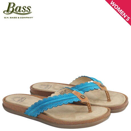 G.H. BASS サンダル レディース ジーエイチバス トングサンダル SAMANTHA SCALLOPED SUNJUNS 71-23037 靴 ライトブルー