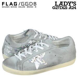 ゴールデングースGoldenGooseスニーカーレディースSUPERSTARイタリア製G27D121A24靴グレー