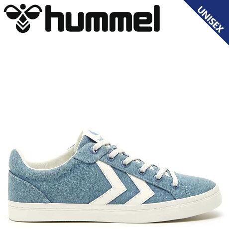 ヒュンメル hummel デュース コート スニーカー メンズ レディース DEUCE COURT ブルー HM206425-7487 [予約商品 10/15頃入荷予定 新入荷]